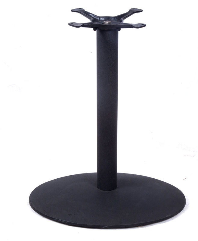 "Restaurant Metal Dining Table Legs And Bases Cast Iron Material Diameter 3""/4"" Columns"